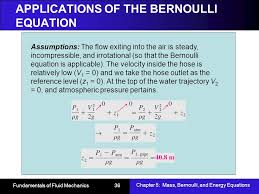 s of the bernoulli equation