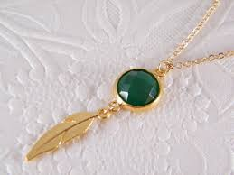 emerald gold necklace green gem stone