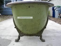 antique victorian oak rimmed copper lined bathtub very rare w ornate claw feet