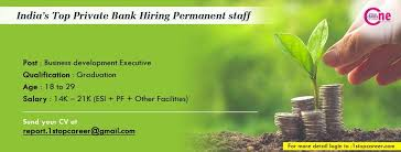Permanent Banking Jobs Vacancy Salary 14k 21k Esi Pf Other