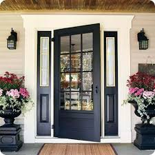 12 lite door black glass front door 12 lite screen door