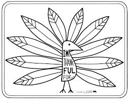Printable For Kids Free Thanksgiving Turkey