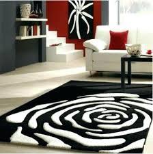 round black and white cowhide rug black and white rug modern carpet black white rose rugs