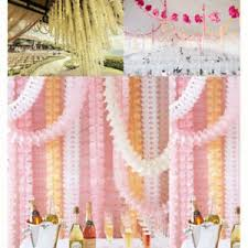Paper Flower Garland Details About Hanging Garland Four Leaf Tissue Paper Flower Garland Reusable Party Streamers