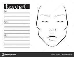 face chart makeup artist blank template ilration asian stock photo