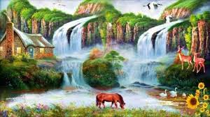 landscape painting nature scenes scenery ilration nature view painting rhcom water scene wallpaper scenes and beautiful
