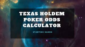 Texas Holdem Hand Odds Chart Poker Odds Calculator Rohit Hebbar