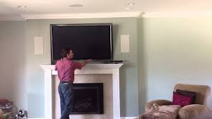 tv over fireplace using down and out mount you also tv over the fireplace