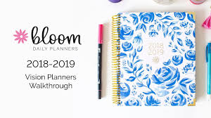 Academic Daily Planner Bloom Daily Planners 2018 2019 Hard Cover Vision Planner Academic