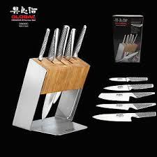 image is loading genuine global katana 6pc knife block set made