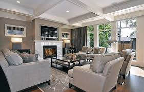 Image Brick Fireplace Living Room Furniture Placement Around Fireplace And Tv Lushome 30 Multifunctional And Modern Living Room Designs With Tv And Fireplace