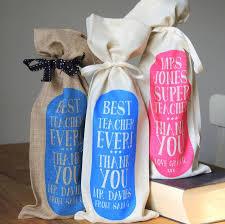 personalised best teacher bottle gift bag