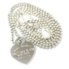 tiffany return toe heart ball chain necklace uni silver silver 925 accessories