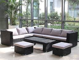 seater rattan corner sofa set