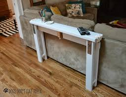 Diy sofa table Bar Diy Sofa Table From 2x4s With Vintage Door Hardware Thediybungalowcom The Diy Bungalow Diy Sofa Table From 2x4s