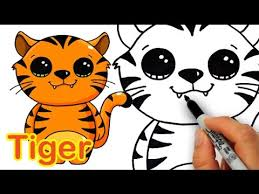 cute animated baby tigers.  Animated How To Draw A Cute Cartoon Tiger Easy To Animated Baby Tigers N