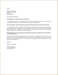 Scholarship Thank You Letter Articleezinedirectory