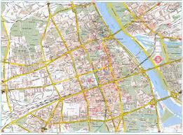 maps of warsaw  detailed map of warsaw in english  maps of