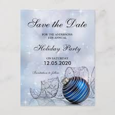 Christmas And Holiday Party Save The Date Template