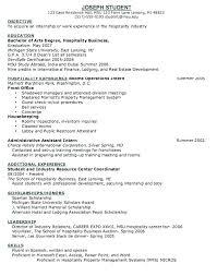 Resume Template Residential Concierge Resume Sample Free Career