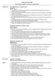 Benefits Coordinator Resume Samples Velvet Jobs