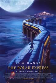 O garoto então vê à sua frente um gigantesco trem negro com destino ao pólo norte. The Polar Express Wikipedia A Enciclopedia Livre