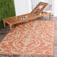 courtyard terracotta natural 4 ft x 6 ft indoor outdoor area rug