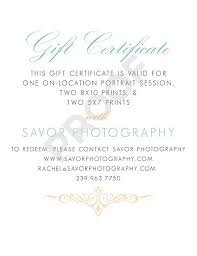 Gift Certificate Wording Gift Certificate Wording For Photography Gift Ideas Threeroses Us