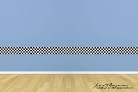 on wall art decals borders with wall decals kids checkered wall border racing wall art race