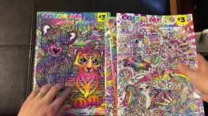 Small Picture Lisa Frank Adult Coloring Book Color Me Flip Through Review YouTube
