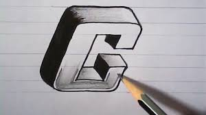 how to draw 3d letter c 3d letter designing mazic writer