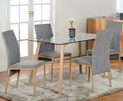 dining room table 4 chairs rovigo large glass chrome dining room table and 4 chairs set