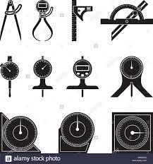 Type of measuring tools Micrometer Set Of Various Types Of Measuring Tools Flat Vector Set Of Various Types Of Measuring Tools Flat Vector Stock Vector