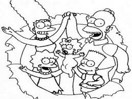 Best Mma Cartoon Coloring Pages Simpsons Family Grig3org Ofertasvuelo