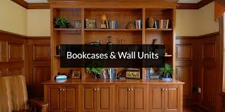 custom built in bookcases wall units