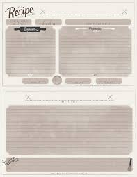 recipe template free free printable recipe cards arts rec