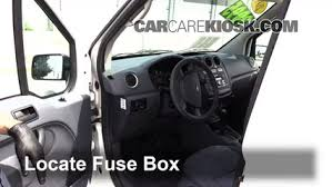 interior fuse box location ford transit connect  locate interior fuse box and remove cover