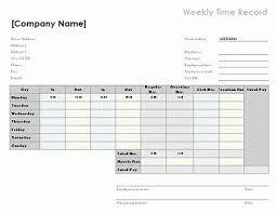 Weekly Timesheet Template Excel Biweekly Timesheet Template Excel