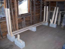 concrete block furniture ideas. DIY Indoor Cinderblock Firewood Rack Storage Design Using Reclaimed Wood Ideas Concrete Block Furniture