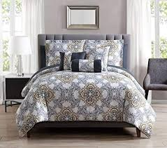 gray and gold bedding. Beautiful Gray 10 Piece Olena GrayGoldWhite Comforter Set WSheets King Inside Gray And Gold Bedding N