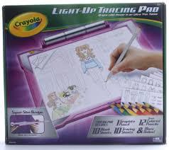 Crayola Crayola Light Up Tracing Pad Crayola Light Up Tracing Pad Pink Colouring Board For