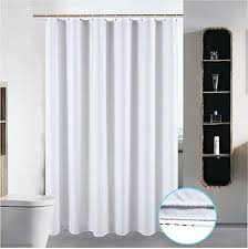 washable fabric shower curtain liner