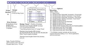 Tandem Hole Chart Motorized Bislide Systems Velmex