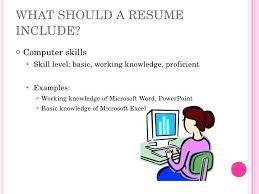 Basic Skills For Resume basic computer skills for resume prettifyco 14
