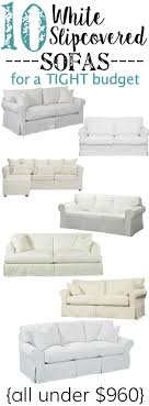 10 white slipcovered sofas for a tight budget blesserhouse com a ping guide