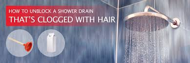 how to unblock a shower drain that s clogged with hair