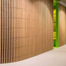 wooden wall cladding grill grid