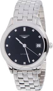 longines mens watch black dial stainless steel l47744576 mens longines flagship automatic mens watch 47744576