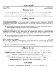 Line Cook Resume Example Adorable Cooks Resume Prep Cook Sample Pdf Creerpro