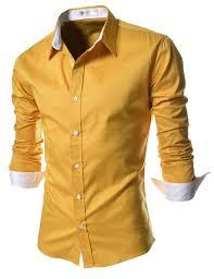 Yellow Designer Shirt Mens Yellow Dress Shirt Slim Fit Mens Fashion Suits Shirt